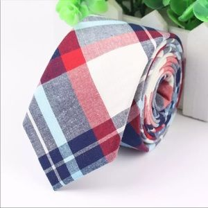 Red / Blue Plaid (Easter / Spring) Tie
